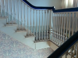 Open Steps with White Spindles