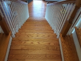 oak staircase from top