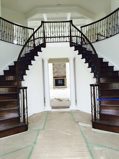 Grand Staircase with Iron Spindles